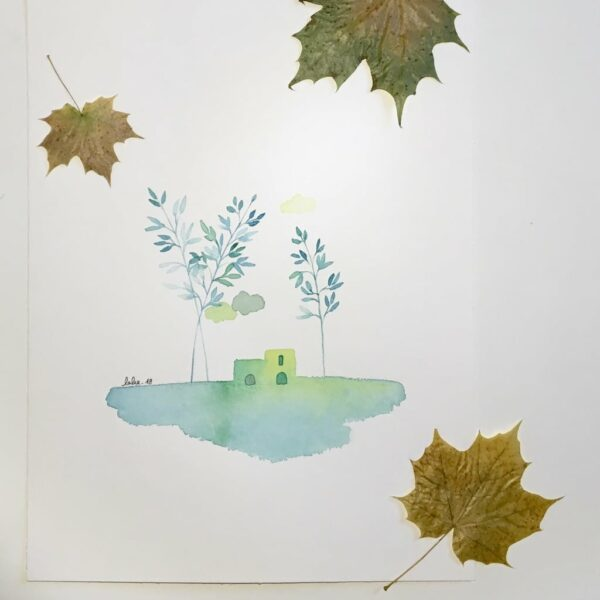"Aquarelle ""Cabane citron"". Copyright Valérie Faure"
