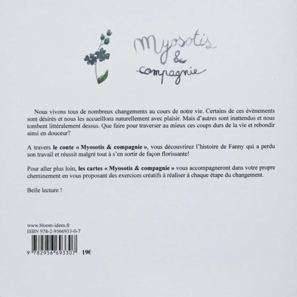 """Conte """"Myosotis et compagnie"""" 4ème de couverture. Copyright Valérie Faure"""