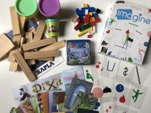 les jeux pour un kit créatif