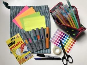 le matériel de base pour un kit créatif
