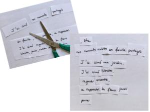 Exemple de poème dada, copyright Valérie Faure